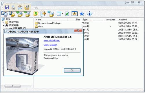 Attribute Manager修改文件或文件夹的属性 V2.6绿色便携版