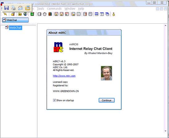 mIRC IRC类客户端软件下载v7 14 绿色便携版-英国mIRC公司出品