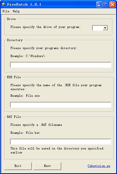 FreeBatch可批量文件创建工具 V1.0.1绿色免费版