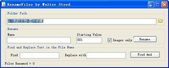 RenameFiles(批量改名) V1.1 英文绿色版