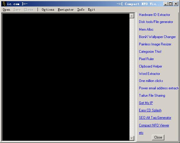 Compact NFO viewer (阅读NFO和DIZ格式的文件) v1.5.6 免费英文绿色版