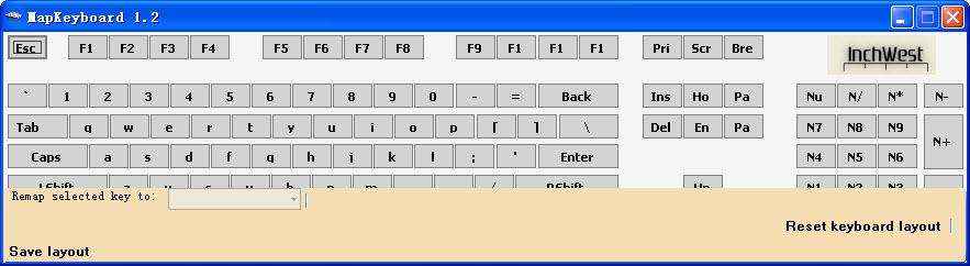 键盘按键设置软件(MapKeyboard) 2.1 绿色版
