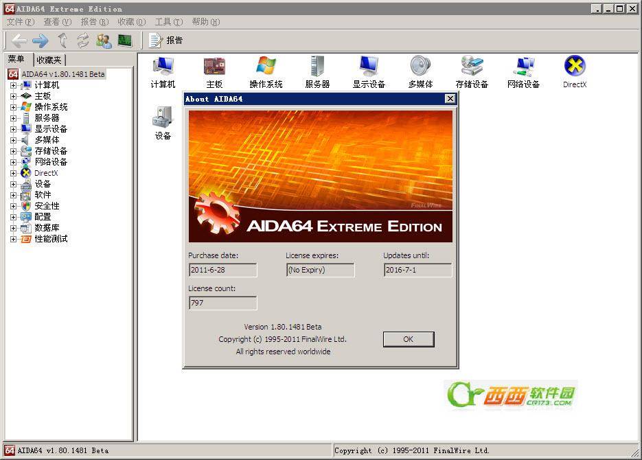 硬件检测工具|AIDA64 Engineer V5.95 绿色特别版