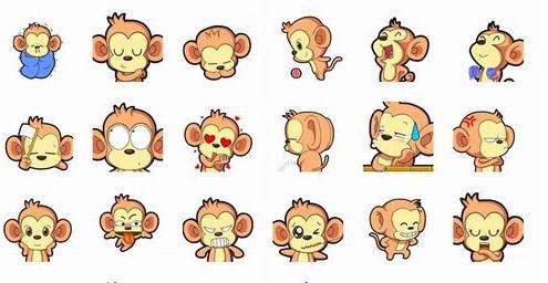 怪的花生猴QQ表情包