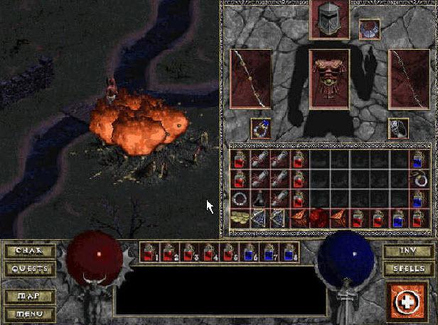 暗黑破坏神1地狱火中文版 免安装硬盘版