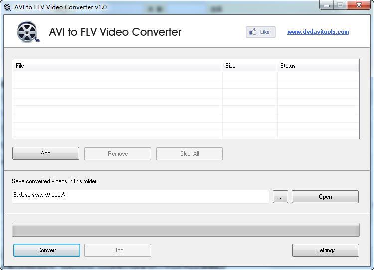 avi转flv转换器(AVI to FLV Video Converter) v1.0 免费版
