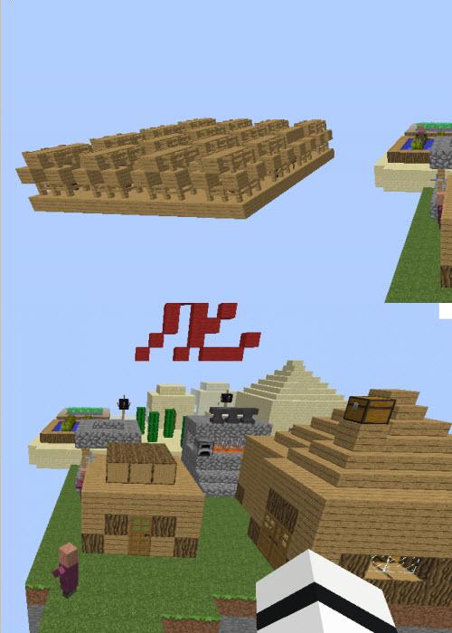 我的世界12生肖空岛跑酷地图 绿色版