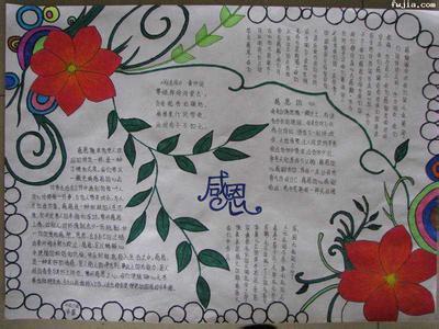 学会感恩感恩节手抄报内容 我们要学会感恩感恩节手抄报图片 含英文