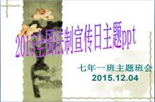 2015全国法制宣传日宣传PPT模板