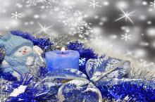 2015蓝色圣诞节背景海报模板