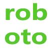谷歌Roboto无衬线字体系列