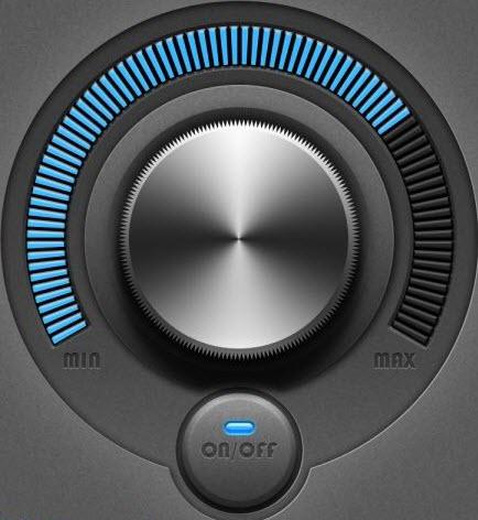 圆形质感旋钮图标设计PSD素材