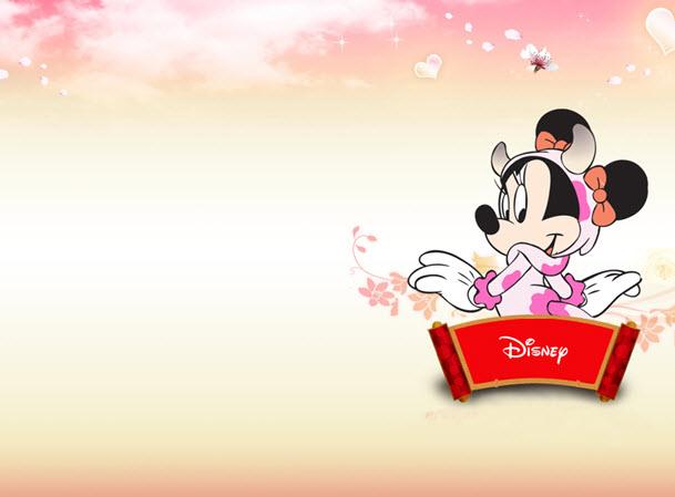软件介绍 迪斯尼的卡通主题的ppt中,里面有着可爱的米妮,背景以粉色