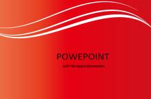 红色动感线条主题PPT背景图片