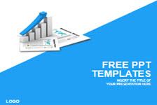 蓝色业务图表PPT模板
