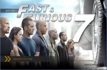 《速度与激情7》电影主题PPT模板