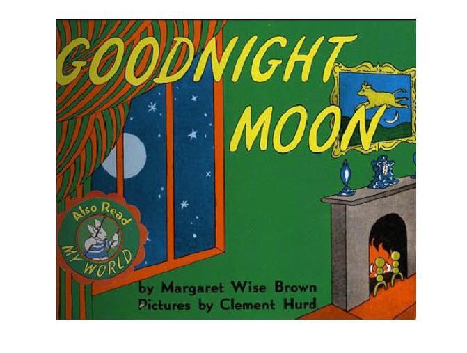 晚安月亮绘本故事卡通主题ppt模板下载