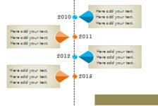 5套精选时间轴流程图表