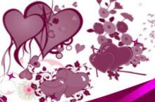 85款情人节心形鲜花Photoshop笔刷