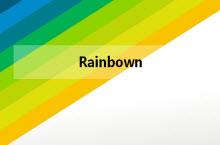彩虹主题多图表主题PPT模板