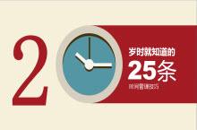 25条时间管理技巧PPT模板