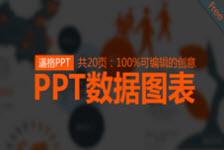 创意可编辑数据图表PPT模板