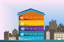楼房式动态图表主题PPT模板