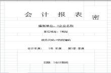 2015年新会计科目明细表格模板