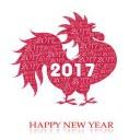 2017鸡年元旦贺卡图片素材无水印版