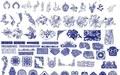 11套128款经典中式古典吉祥图案云祥photoshop图案纹理素材