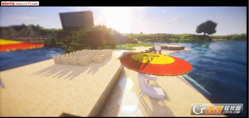 我的世界1.10一键命令方块沙滩装饰图片