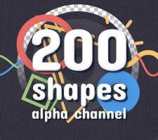 213个创意MG卡通动漫动画图形元素包高清素材Shape Elements Pack视频素材