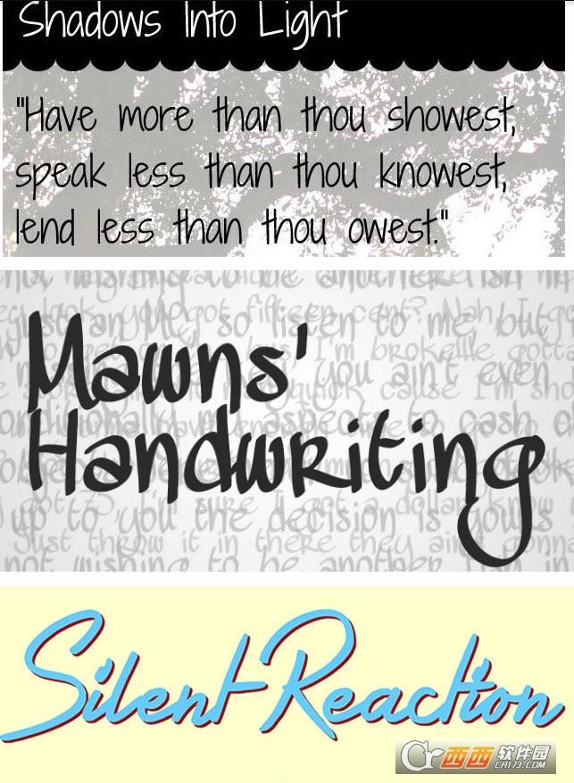 33款手写艺术英文字母特殊字体大全 最新打包