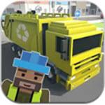 像素城市垃圾车模拟游戏