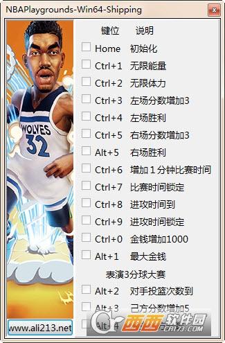 NBA2K游乐场2多功能修改器 v1.0.3.0 peizhaochen版