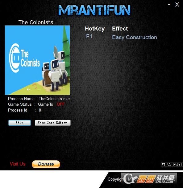 殖民者修改器+1 V1.1.4.3 MrAntiFun版