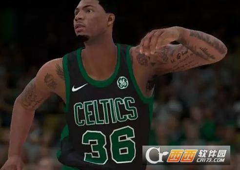 NBA2K18马库斯斯马特纹身MOD 绿色版