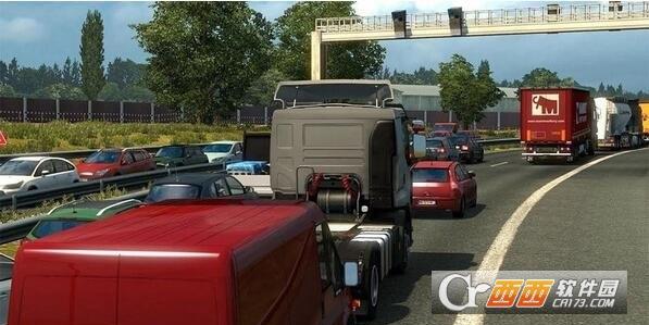 欧洲卡车模拟2真实的交通拥挤补丁 v1.31 绿色版