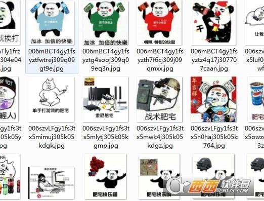熊猫头肥宅快乐水表情包完整版 高清无水印