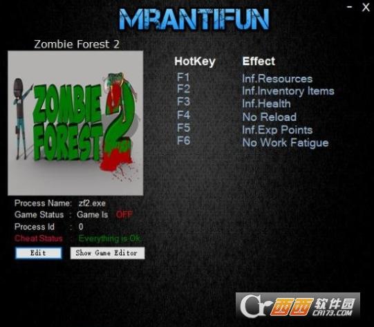 僵尸丛林2无限资源六项修改器 MrAntiFun版