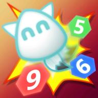 野猫画画色彩数字六角迷宫游戏