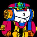 机器人数字涂色