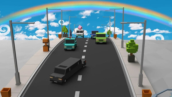 疯狂的汽车道路