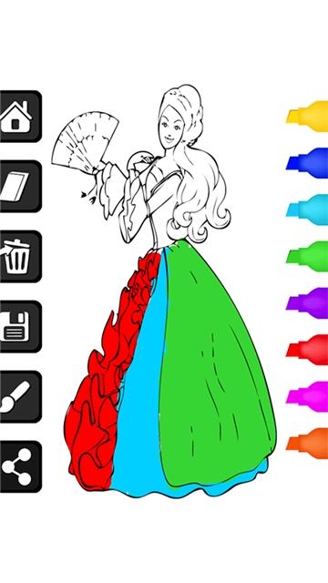 小公主着色