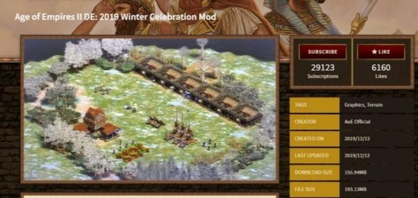 帝国时代2:决定版+冬季庆典官方MOD