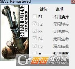狙击精英V2重制版全版本不用换弹修改器 v1.0 最新版