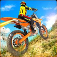 越野摩托山自行车赛车游戏3D