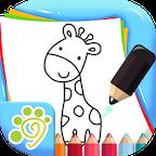 儿童涂鸦涂色简笔画游戏