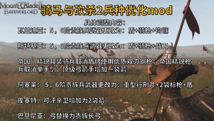 骑马与砍杀2兵种优化调整MOD