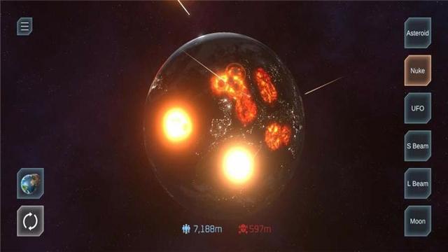 《星球毁灭模拟器》一款非常好玩的手机休闲模拟小游戏!